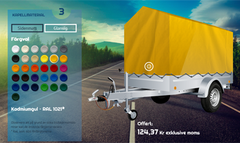 Val av färg på släpvagnskapellet